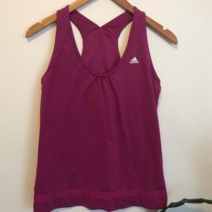 💖 ADIDAS Climalite Top with built in sports bra
